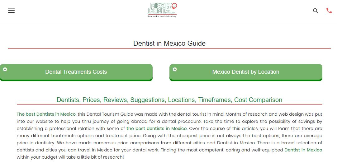 Mexico dental website